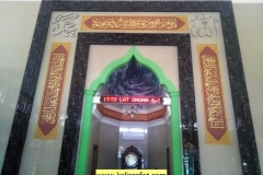 Kaligrafi Masjid Baitul Muttaqin Bekasii