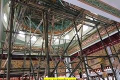 proses pengerjaan kaligrafi kubah masjid (1)