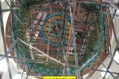 proses pengerjaan kaligrafi kubah masjid (2)