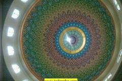 proses pengerjaan kaligrafi kubah masjid (5)