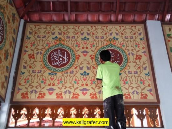 Ornamen kaligrafi motif batik walisongo