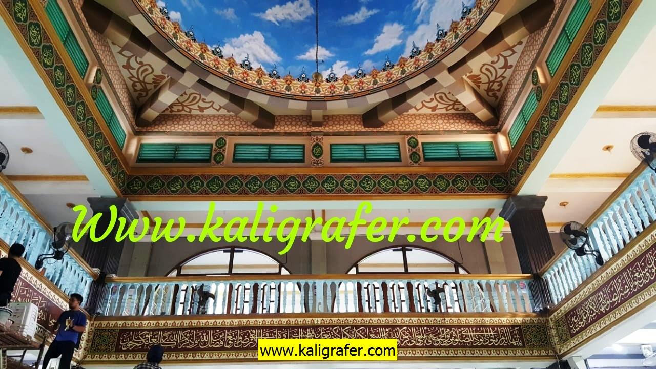 Proses pengerjaan jasa kaligrafi masjid