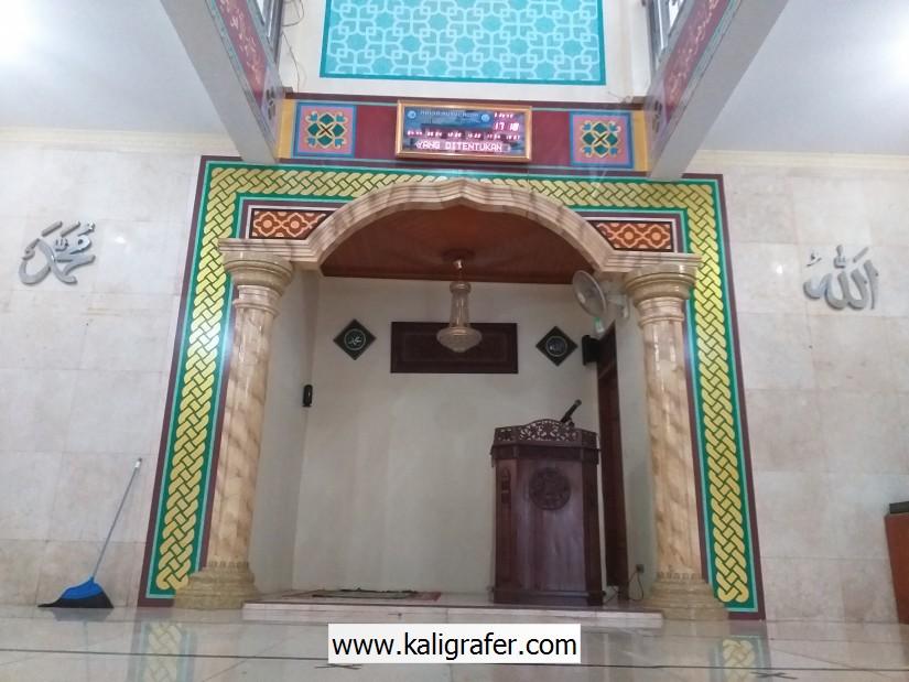 Ornamen Mihrab Masjid di Depok