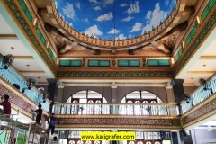 Kaligrafi Kubah, Mezanin, Lukisan Awan Kubah Masjid di Jakarta Utara