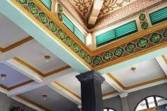 kaligrafi-kubah-masjid-dan-lukisan-awan-kubah-masjid-1