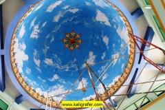 kaligrafi-kubah-masjid-dan-lukisan-awan-kubah-masjid-6