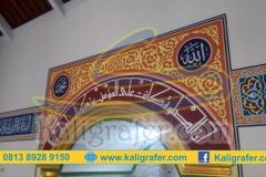Contoh-ornamen-kaligrafi-mihrab-masjid-sederhana
