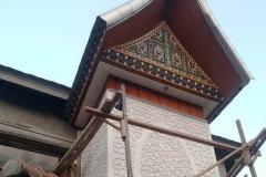 Ornamen Timbul Masjid Desain Rumah Padang